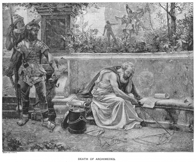 Death of Archimedes etching