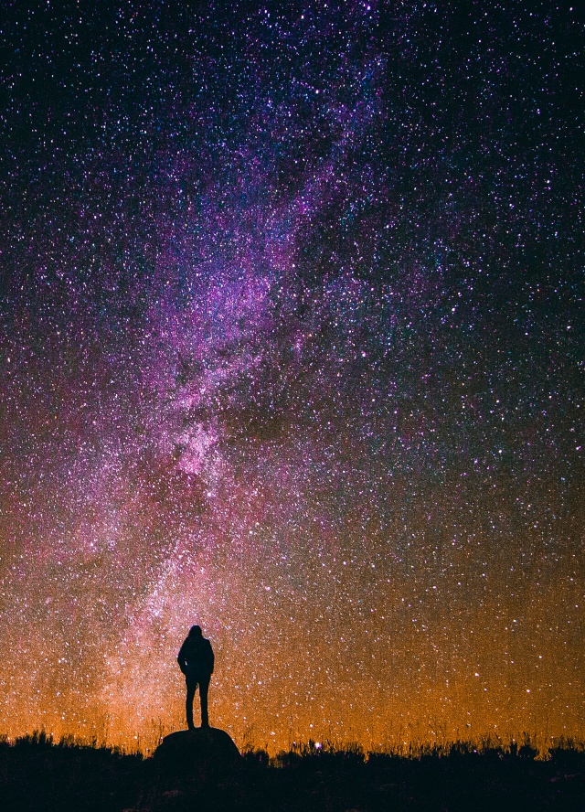 Woman staring at the sky