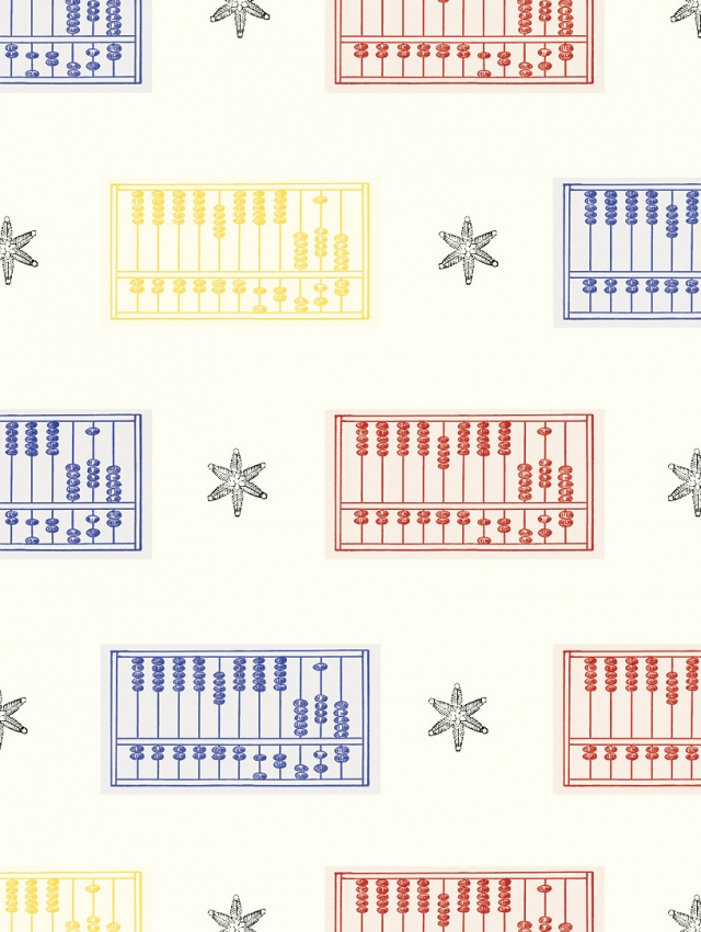 Abacus wrapping paper