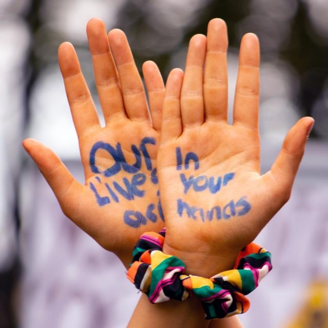 Activist hands