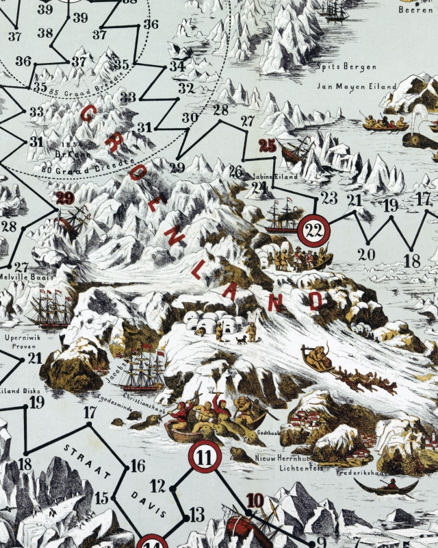 North pole wrapping paper