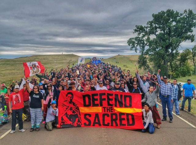 Standing Rock, North Dakota Water Protectors. Courtesy of Dallas Goldtooth, Mdewakantonwan Dakota