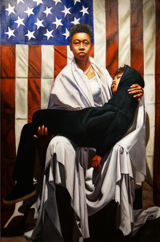 Pieta, oil on canvas