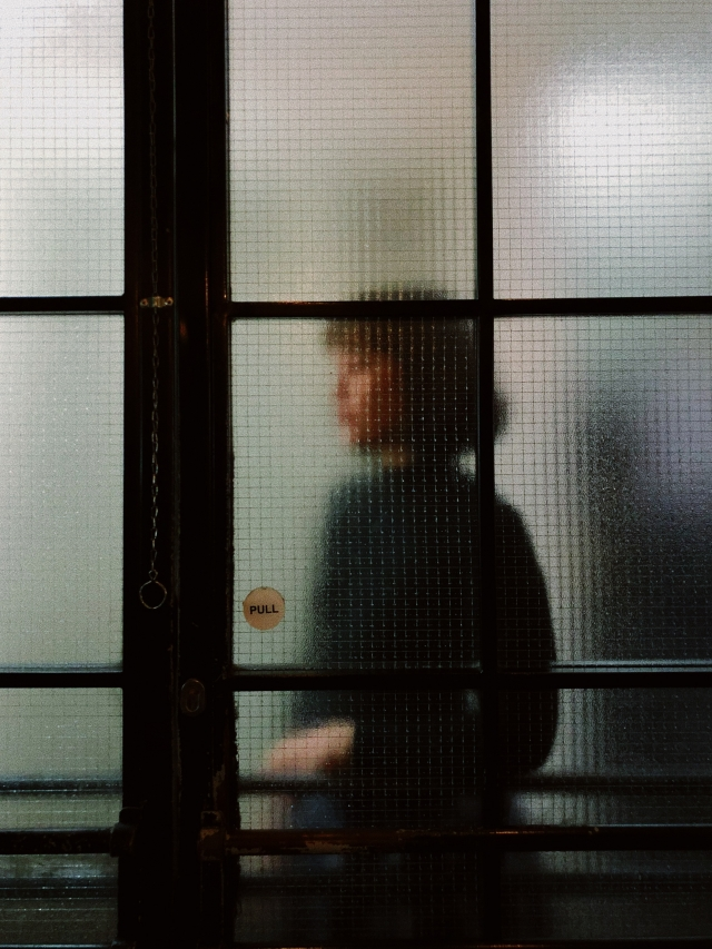 woman at door