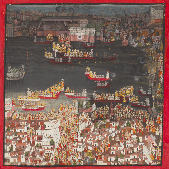 Maharana Sangram Singh II at the Gangaur Boat Procession