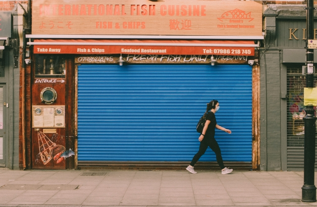 COVID lockdown closed shop