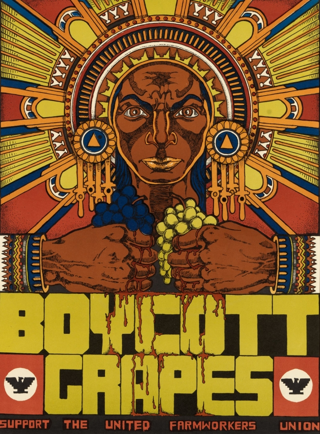 Boycott Grapes Support the United Farm Workers Union offset lithograph on paper