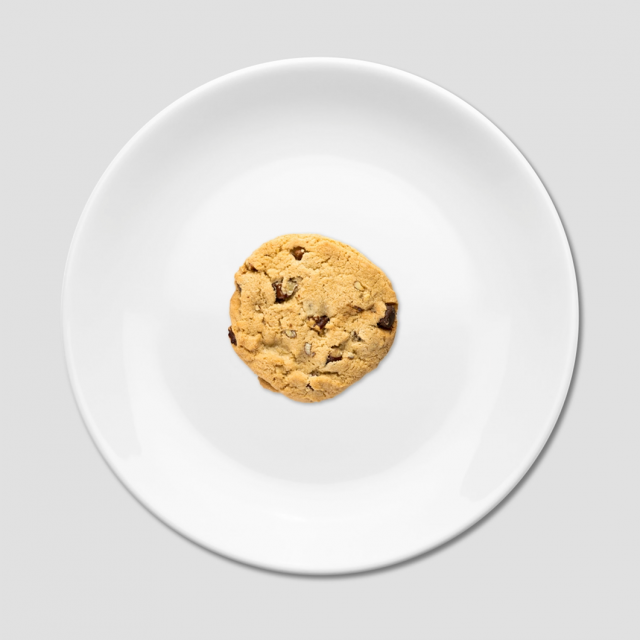 cookie on plate