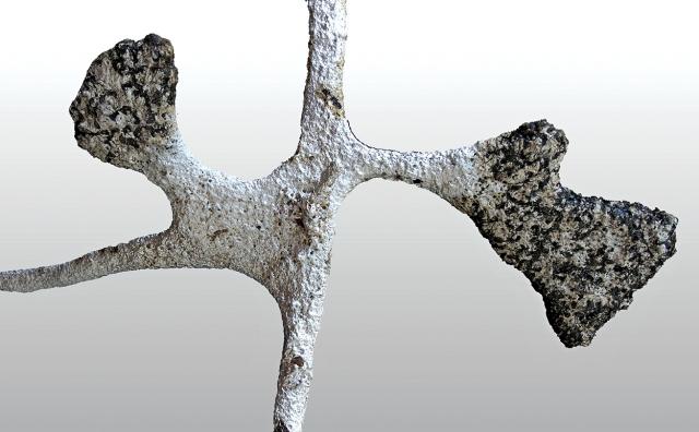 plaster cast of an ant nest