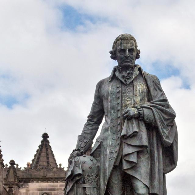 bronze statue of Adam Smith