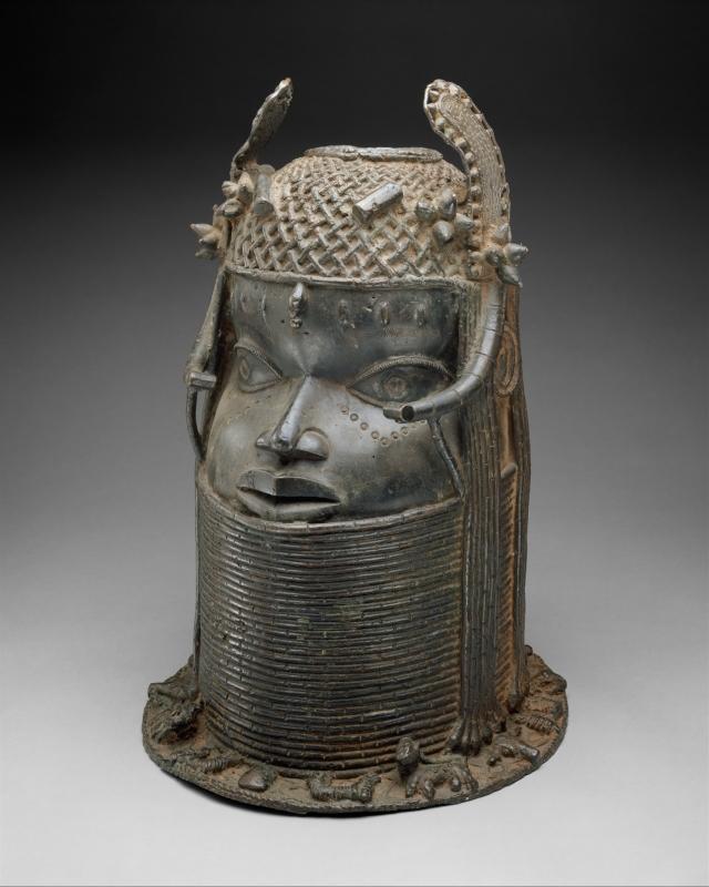 Head of an Oba, Edo peoples, Nigeria, Court of Benin, ca. 1550. Courtesy of the Metropolitan Museum of Art.
