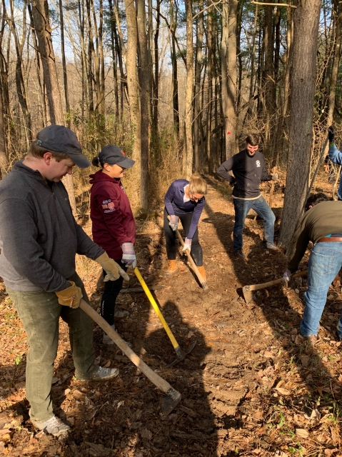 Volunteering at Meadow Lakes Preserve